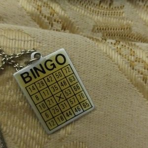 Vintage BINGO necklace & bingo earrings PM 646